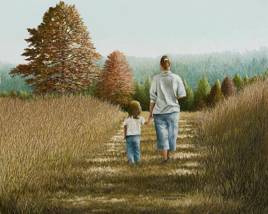 Landscape Paintings Painting - Going Home by Mary Ann King