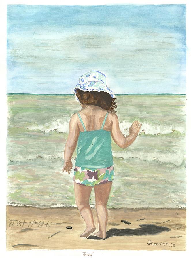 Beach Painting - Going by Janis  Cornish