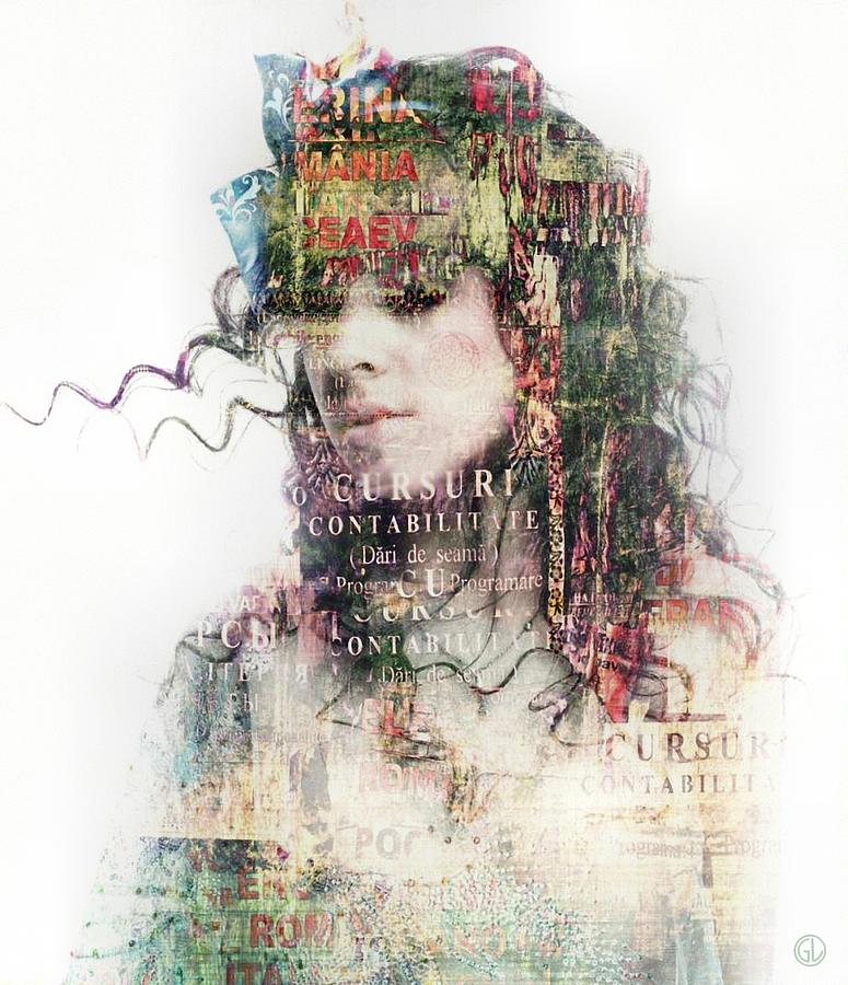 Woman Digital Art - Going Out In The Words by Gun Legler