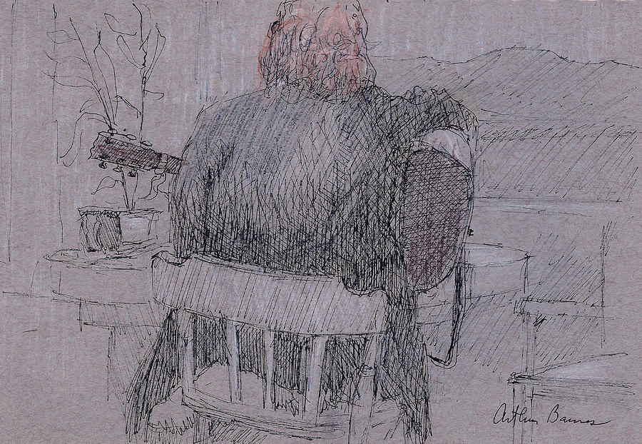 Musician Drawing - Going Over Songs by Arthur Barnes