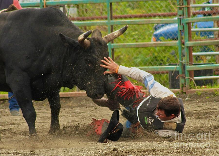 Rodeo Photograph - Going To Hurt by Rick  Monyahan