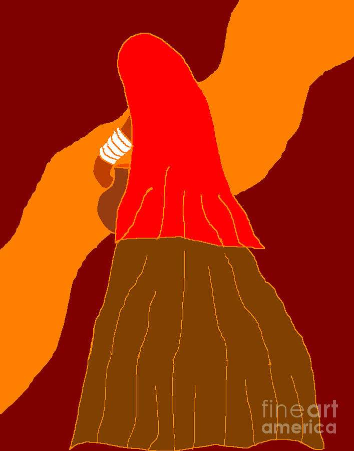 Rajasthani Woman Digital Art - Going To The River by Meenal C