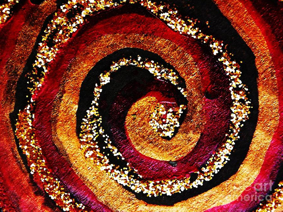 Abstract Photograph - Gold And Glitter 55 by Sarah Loft