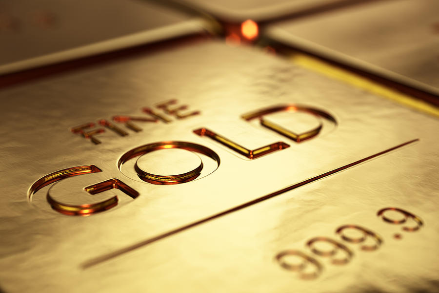 Gold Photograph - Gold Bars Close-up by Johan Swanepoel