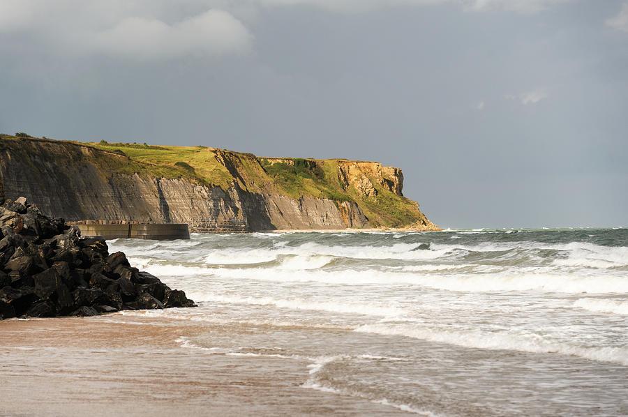 Gold Beach Cliffs Photograph by Earleliason