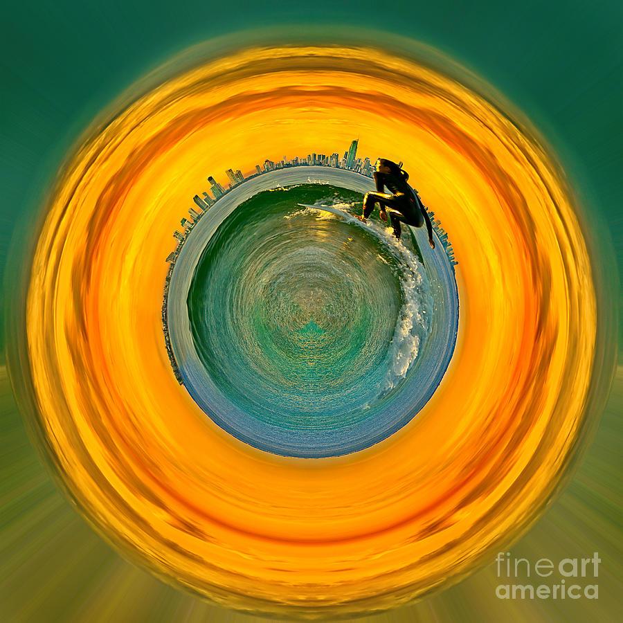 Gold Coast Surfer Circagraph Photograph