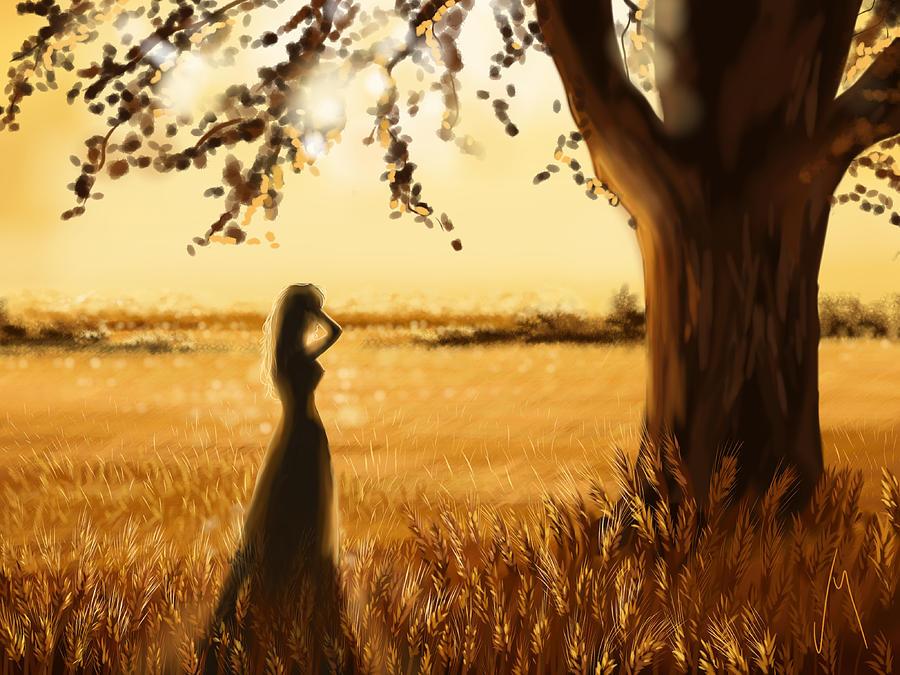 Ipad Painting - Gold Field by Veronica Minozzi