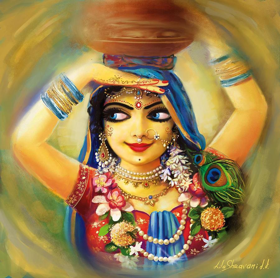 Krishna Painting - Gold Gauri by Lila Shravani