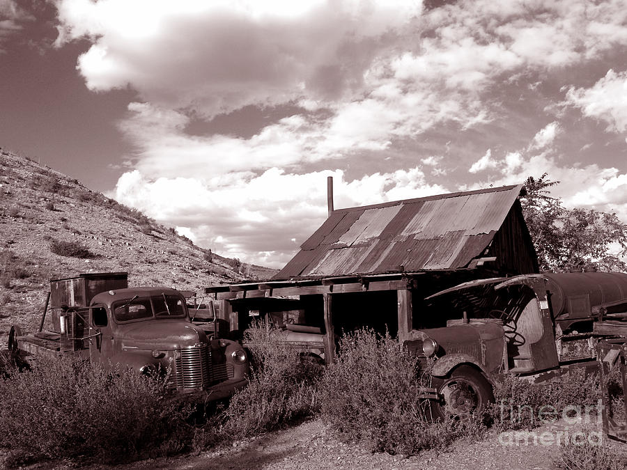 Landscape Photograph - Gold King Mine Near Jerome by Alex Cassels