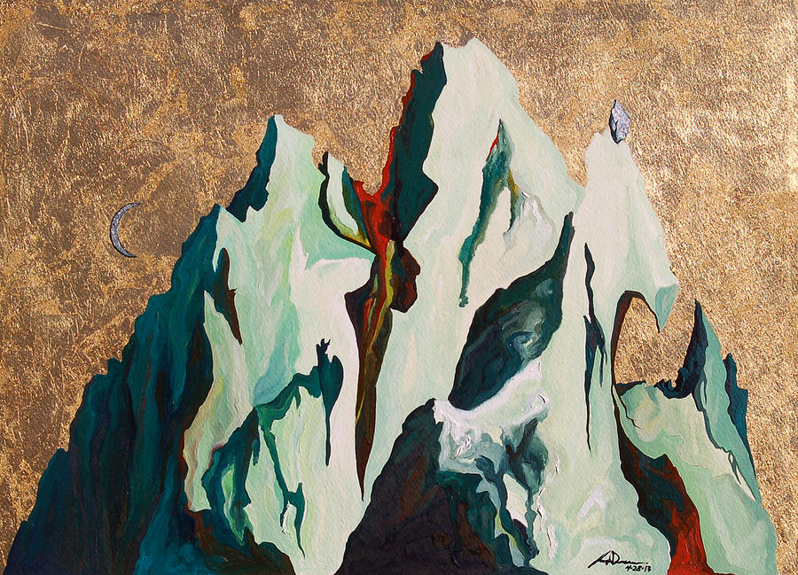 Mountains Painting - Gold Mountain by Joseph Demaree