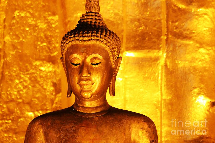 Buddhism Photograph - Gold On Gold by Nola Lee Kelsey