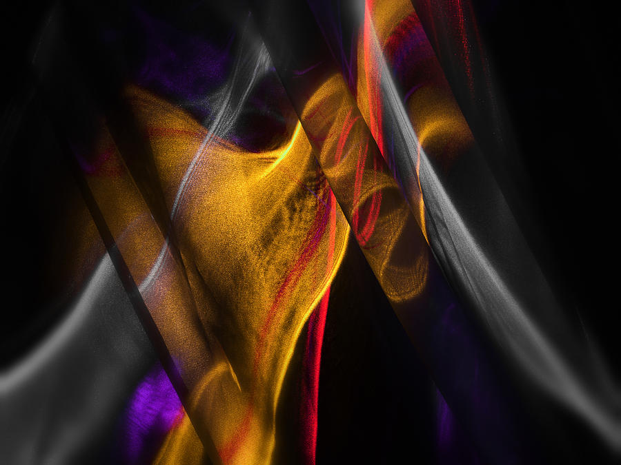 Impressionistic Photograph - Gold Ribbon by Dennis James