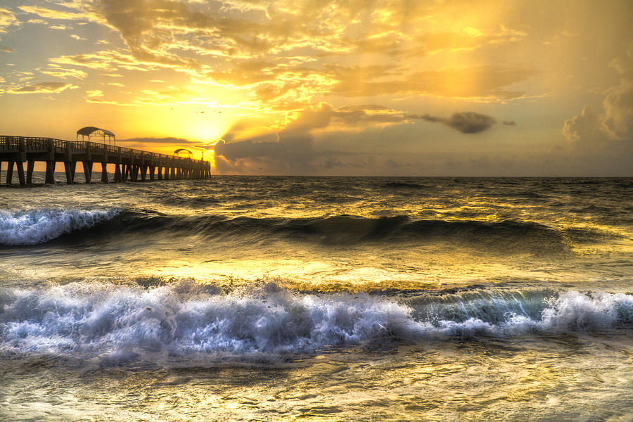 Clouds Photograph - Gold Rush by Debra and Dave Vanderlaan