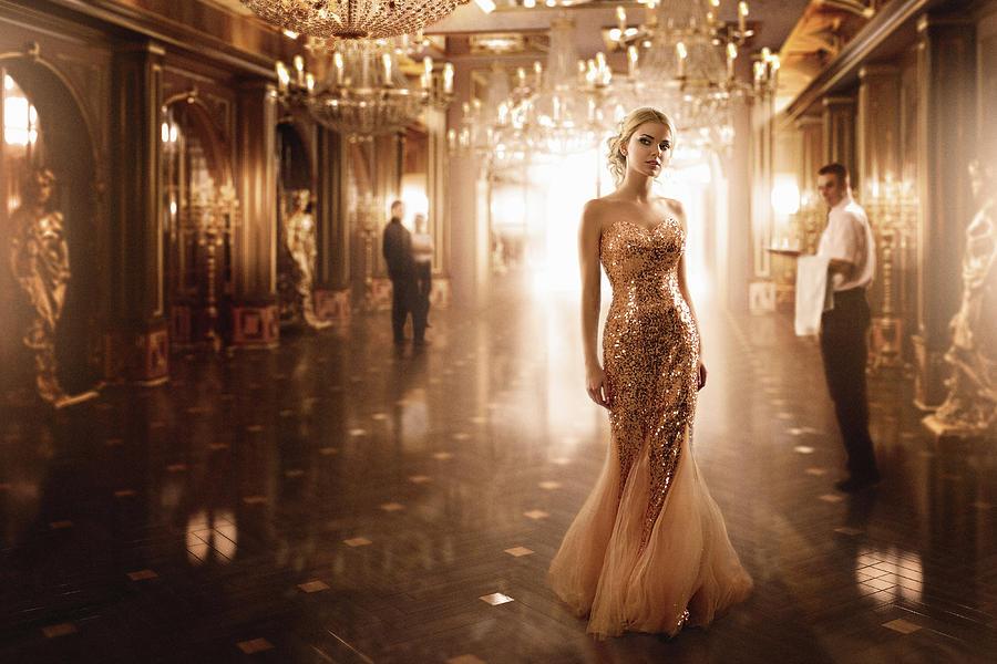Glamour Photograph - Gold by Sergey Parishkov
