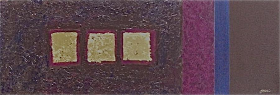 Large Painting - Gold Squares by Jim Ellis