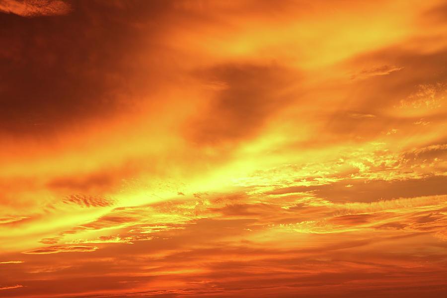 Gold Storm Clouds-xxxl Photograph by Balavan