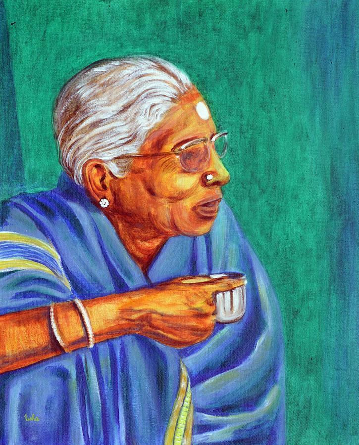 Usha Painting - Golden Age 2 by Usha Shantharam