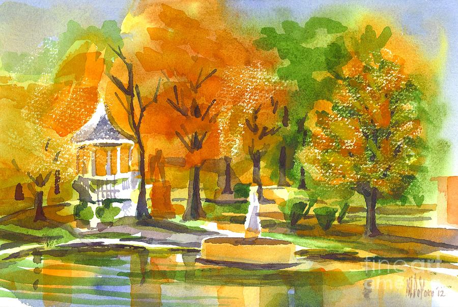 Colorful Painting - Golden Autumn Day by Kip DeVore