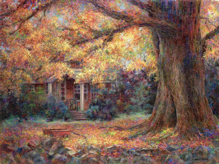 Autumn Painting - Golden Autumn by Susan Savad
