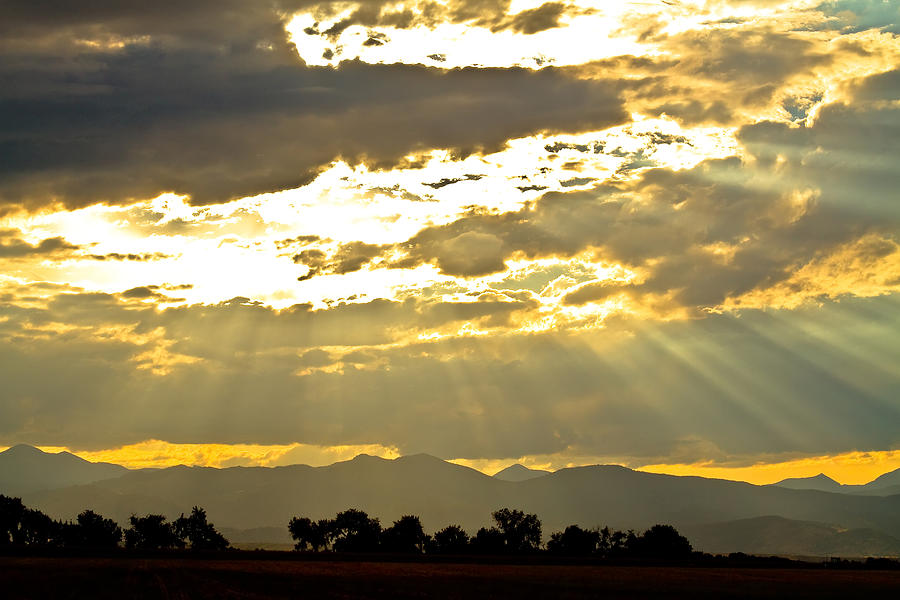 Gold Photograph - Golden Beams Of Sunlight Shining Down by James BO  Insogna