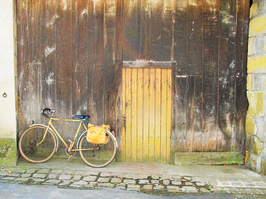 Yellow Photograph - Golden Bike by Randi Kuhne