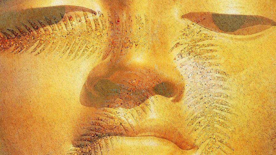 Joy Painting - Golden Buddha - Art By Sharon Cummings by Sharon Cummings