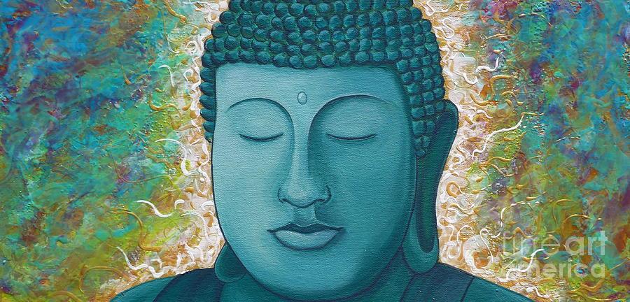 Buddha Painting - Golden Buddha by Gayle Utter