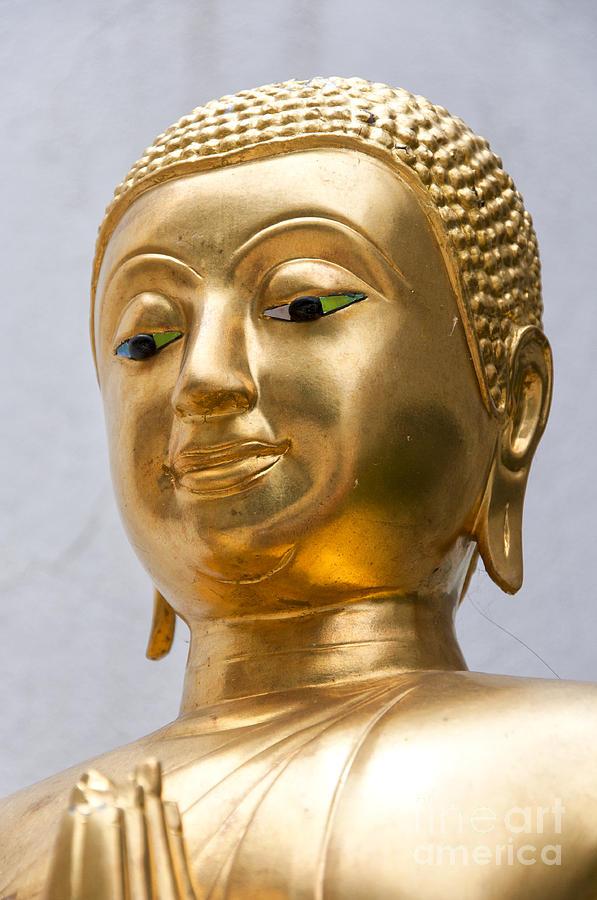 Buddhism Photograph - Golden Buddha Statue by Antony McAulay