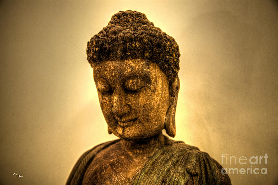 Antique Photograph - Golden Buddha by T Lang