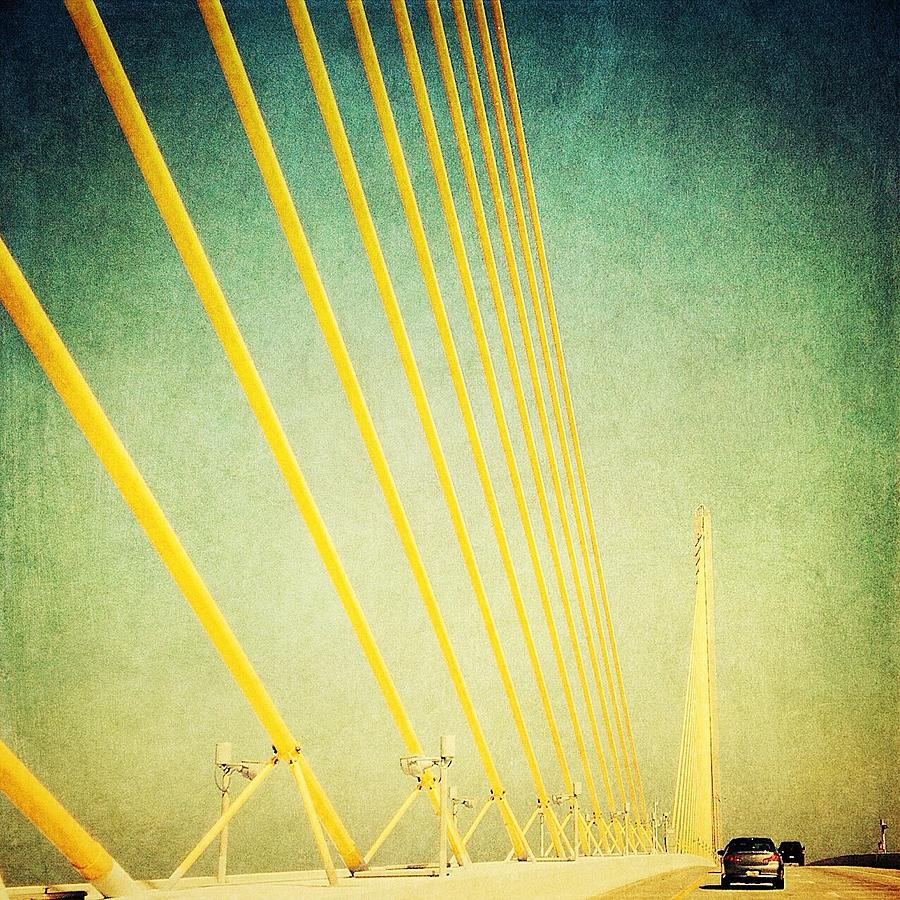 Cables Photograph - Golden Cables by Beth Williams