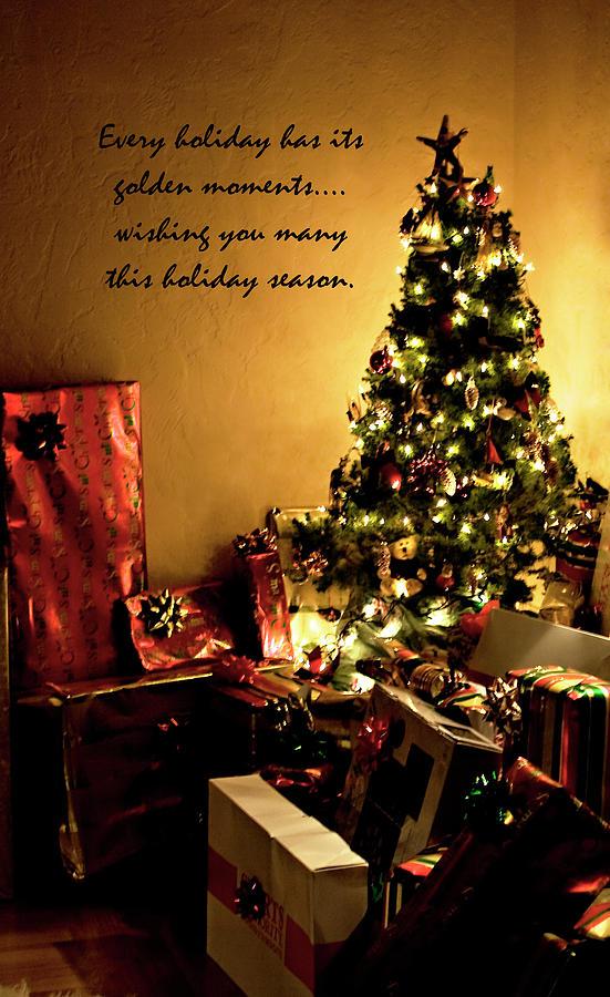 Golden Christmas Wish Photograph by Lorraine Devon Wilke