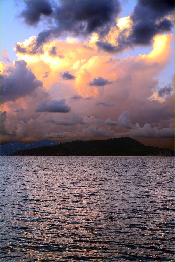 Storm Photograph - Golden Clouds by    Michael Glenn