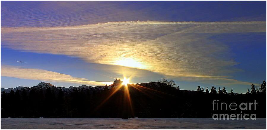 Sunrise Photograph - Golden Clouds by Irina Hays