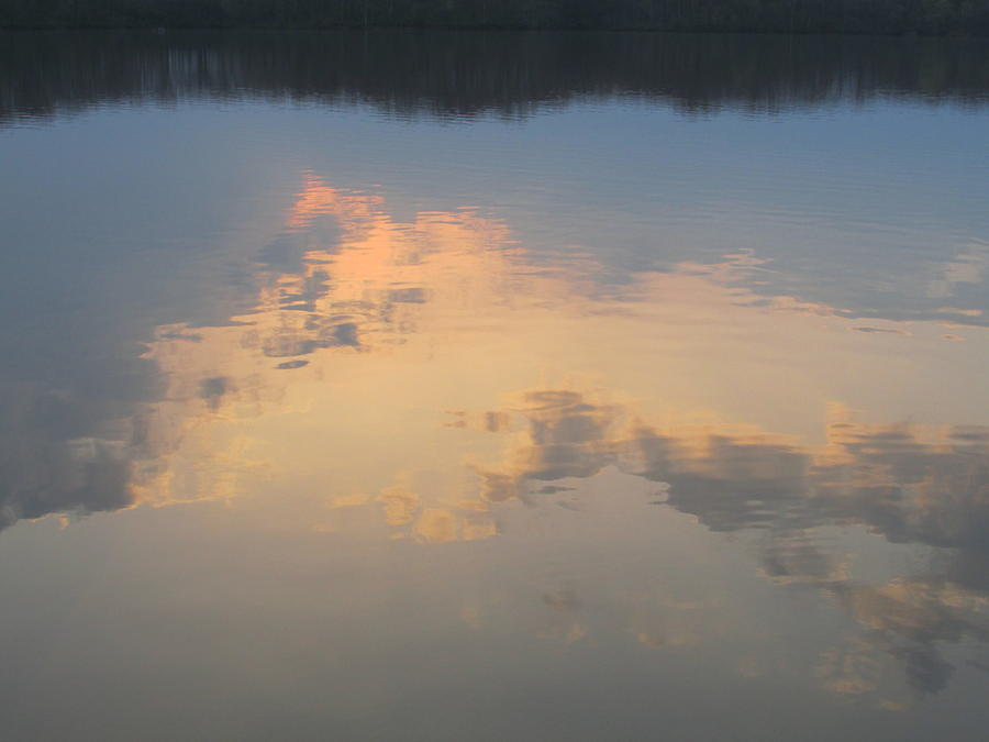 Water Photograph - Golden Clouds On Water by Jaime Neo