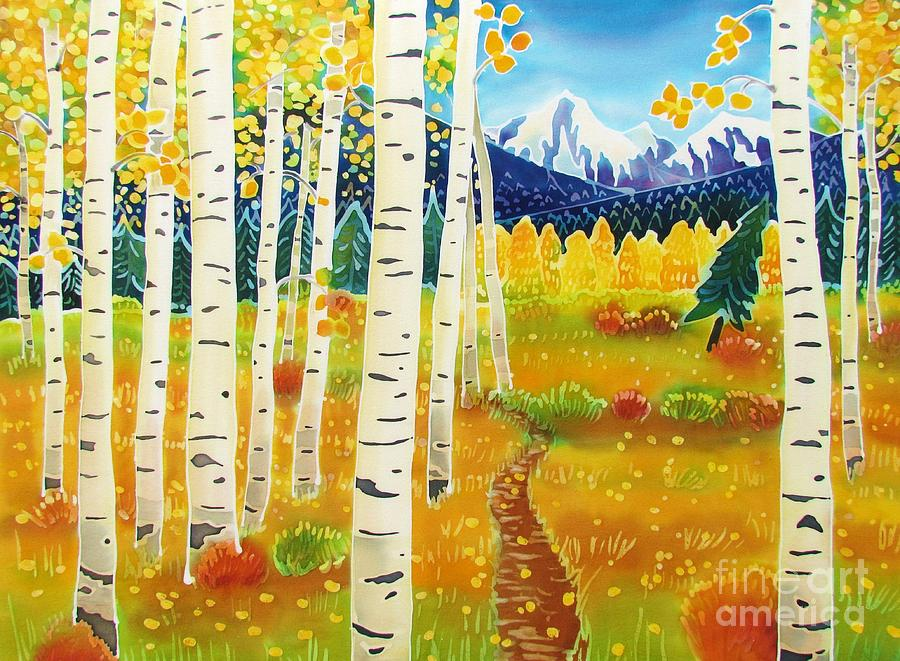 Aspen Painting - Golden Colorado Day by Harriet Peck Taylor