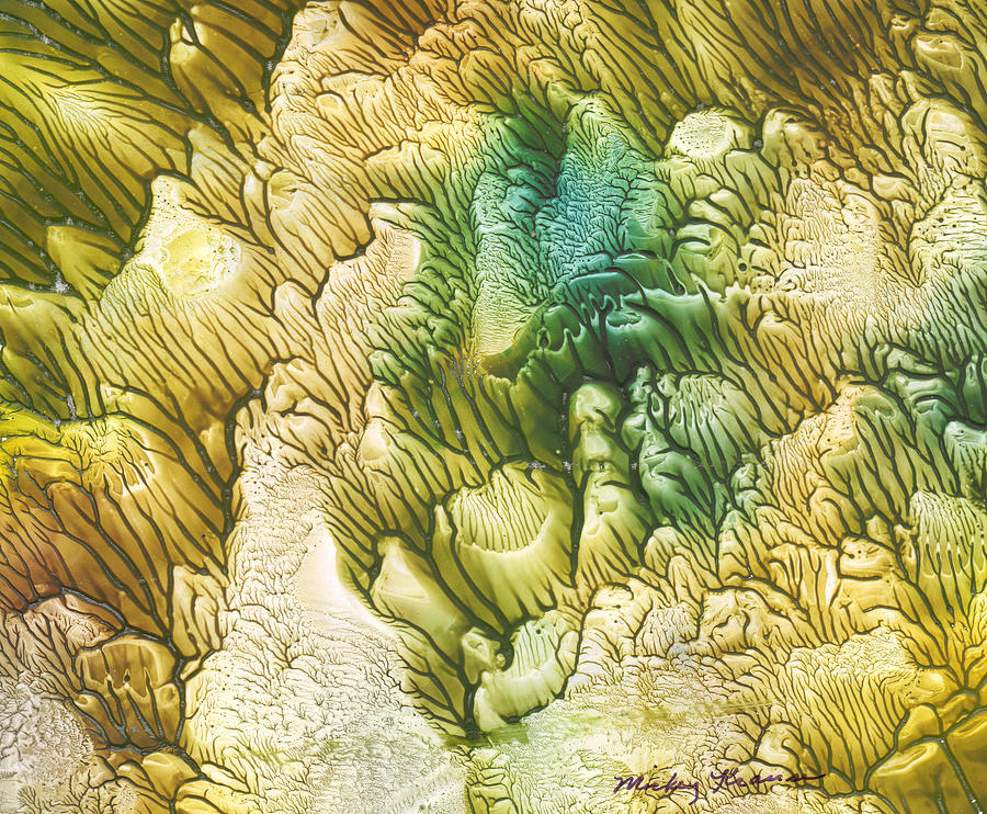 Coral Painting - Golden Coral by Mickey Krause