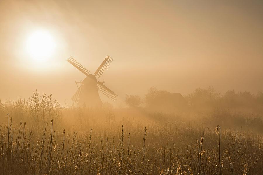 Mill Photograph - Golden Dawn. by Ton Drijfhamer