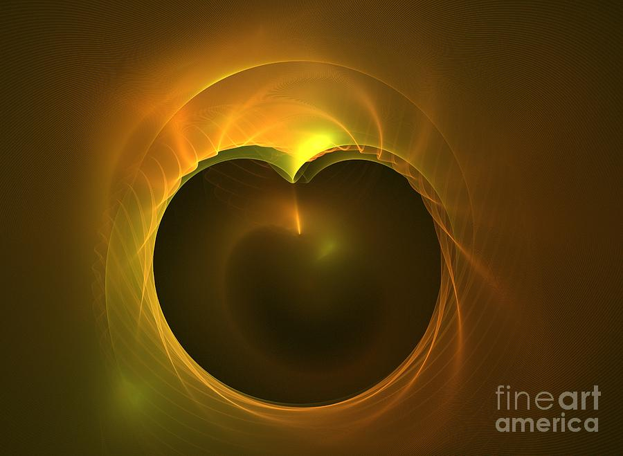 Apophysis Digital Art - Golden Delicious by Kim Sy Ok