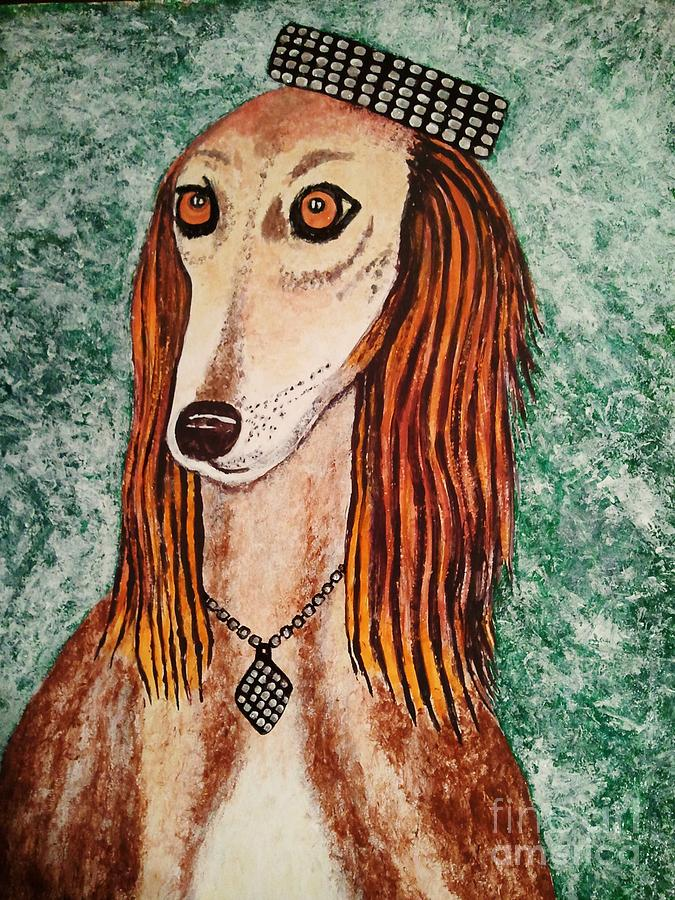 Paintings Painting - Golden Dog by Jasna Gopic