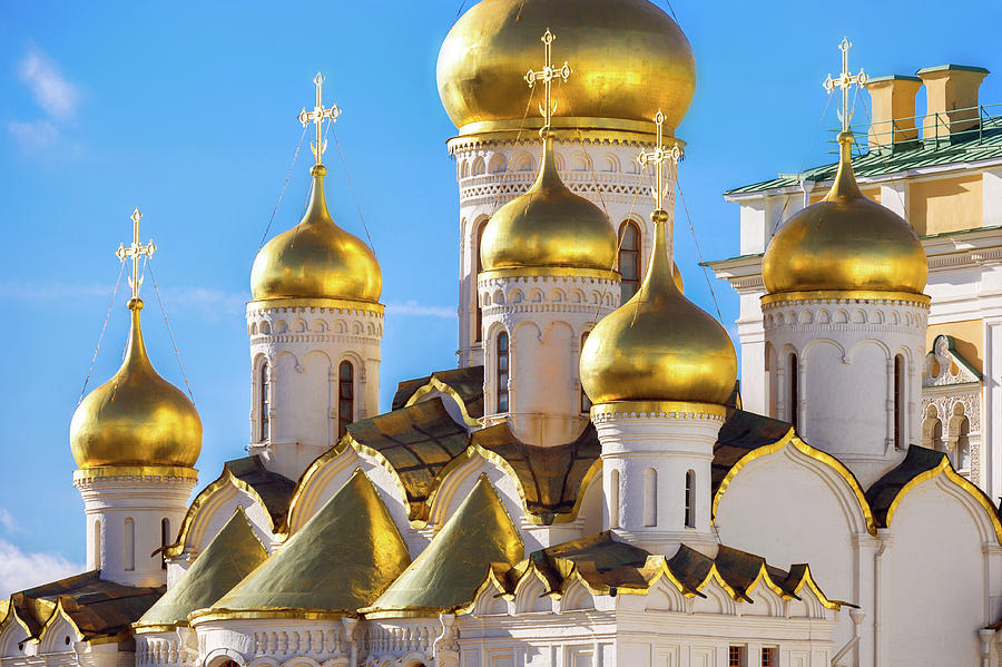 Golden Domes Of The Russian Church Photograph by Mordolff