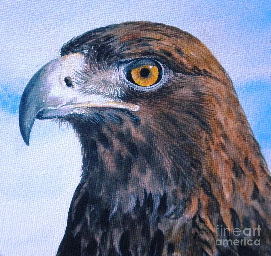 Golden Eagle Painting by Sandra Phryce-Jones