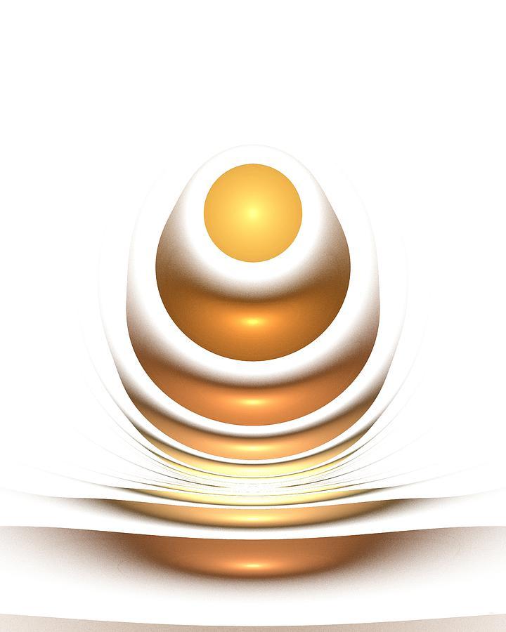 Interior Digital Art - Golden Egg by Anastasiya Malakhova