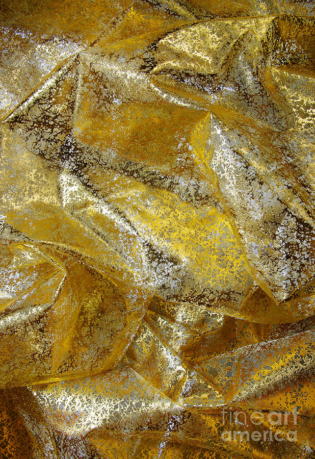 Abstract Photograph - Golden Fabric by Carlos Caetano