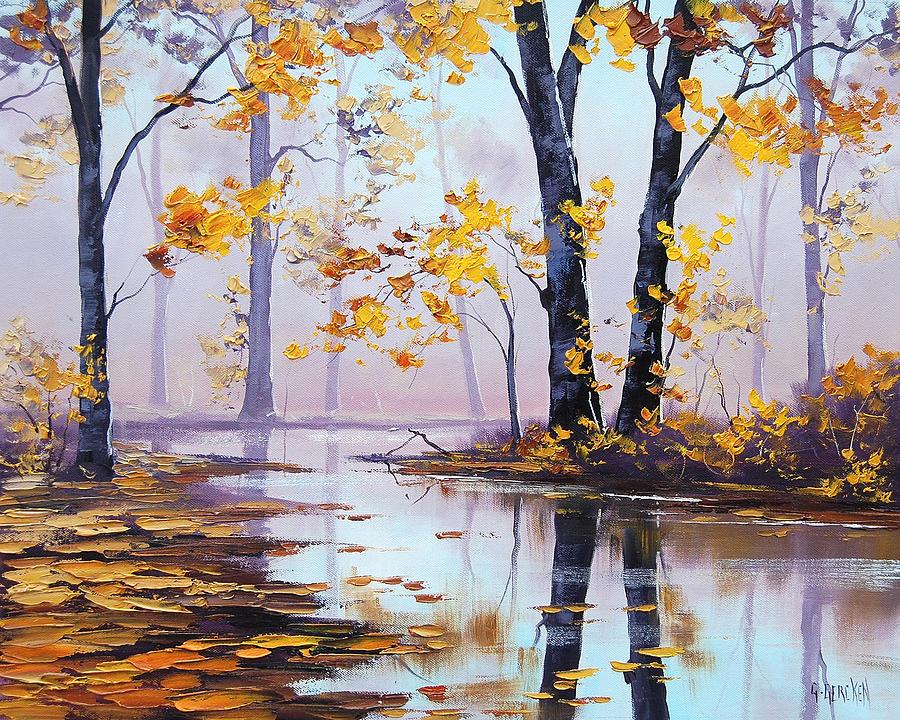 Fall Painting - Golden Fall by Graham Gercken