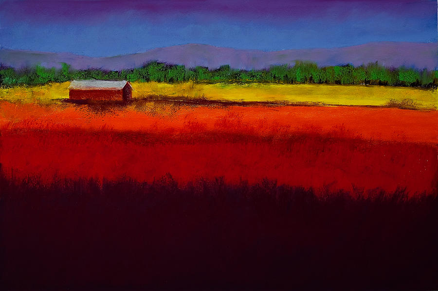 Pastel Painting - Golden Field by David Patterson