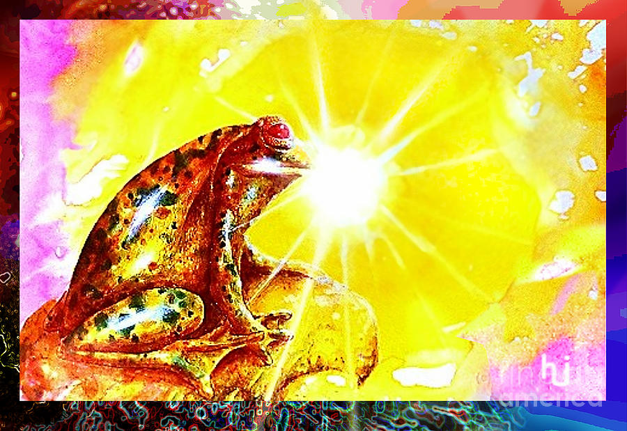 Frog Mixed Media - Golden Frog by Hartmut Jager