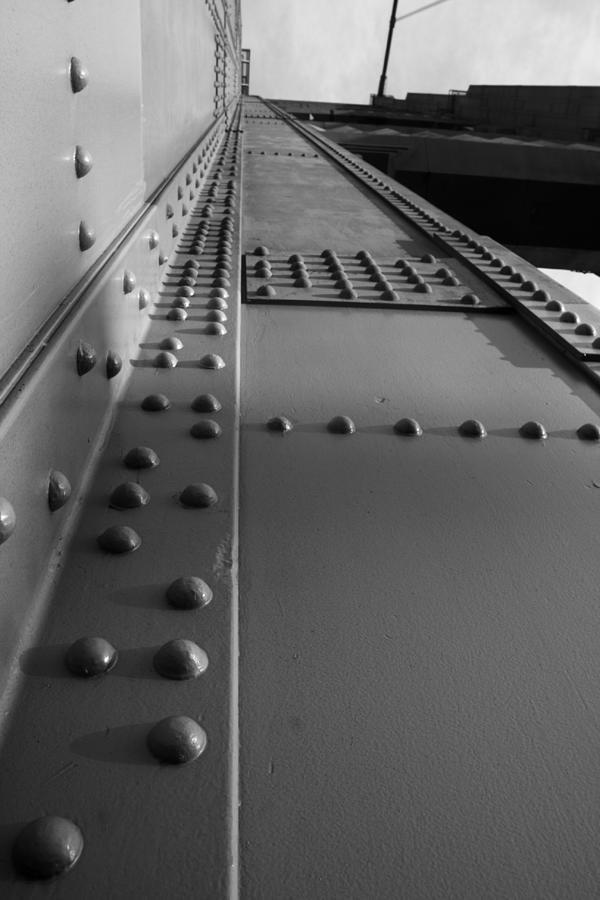 Rivets Photograph - Golden Gate  Abstract by Aidan Moran