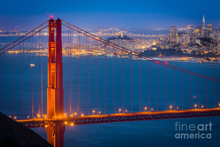 America Photograph - Golden Gate And San Francisco by Inge Johnsson