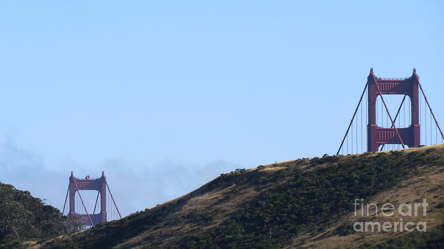 Travel Photograph - Golden Gate Bridge 1 by Mary Mikawoz