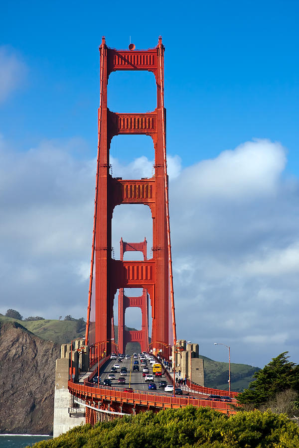 3scape Photos Photograph - Golden Gate Bridge by Adam Romanowicz